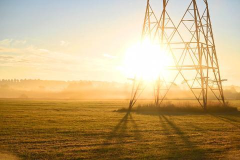 Sunrise through pilon