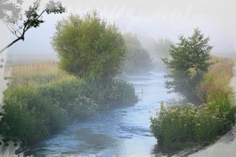 Misty Hampshire River